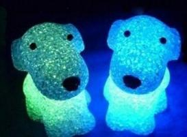 Crystal Dog Color Changing LED Night Lig…