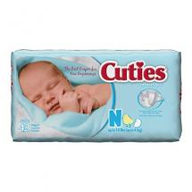 Cuties Baby Diapers, Newborn, 42 Count