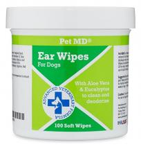 Pet MD - Dog Ear Cleaner Wipes - Otic Cl…