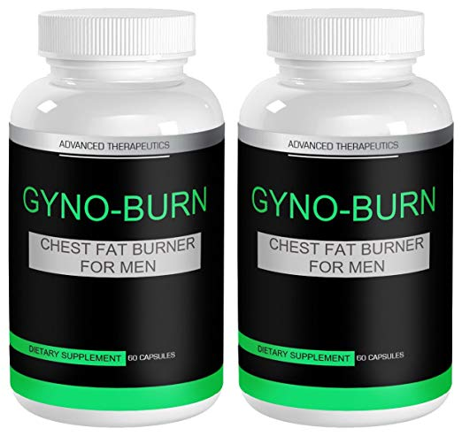 2 Gyno-Burn Gynecomastia Pills Male Ches…