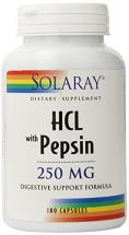 Solaray - HCl with Pepsin - 250 mg - 180…