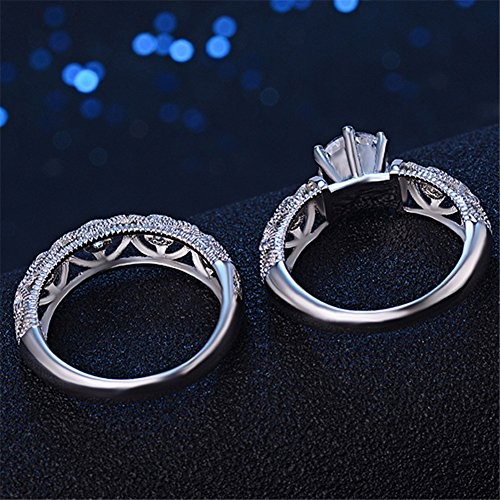 TenFit Jewelry Wedding Ring Set for Women with CZ …