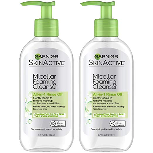 SkinActive Micellar Foaming Face Wash fo