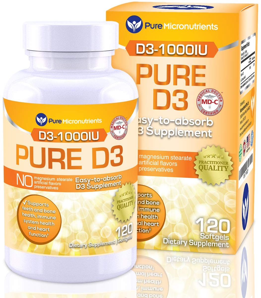 Vitamin D Supplement 1000 IU, Natural D3…