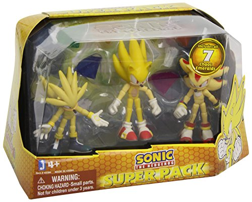 Sonic the Hedgehog Super Pack Action Fig…