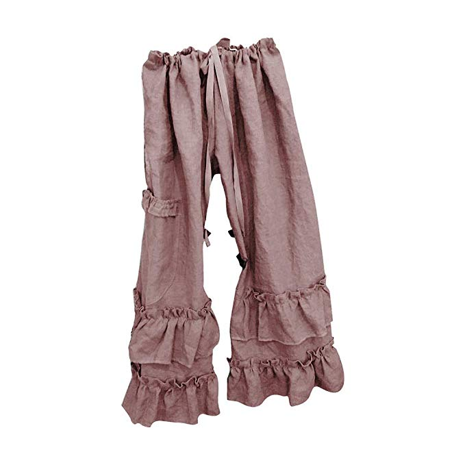 Homeparty Womens Ruffled Pants…