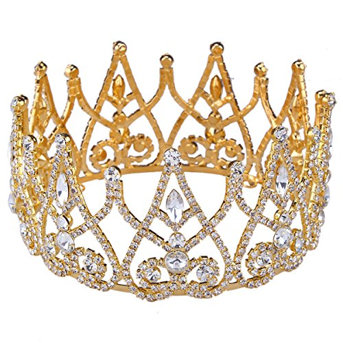 Sant Fe Royal Gold Plated Crown Tiaras Queen/princ…