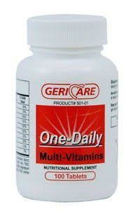 GeriCare Once Daily Multi Vitamins Table