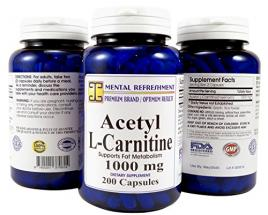 Acetyl L-Carnitine: 1000 mg 200 Capsules…