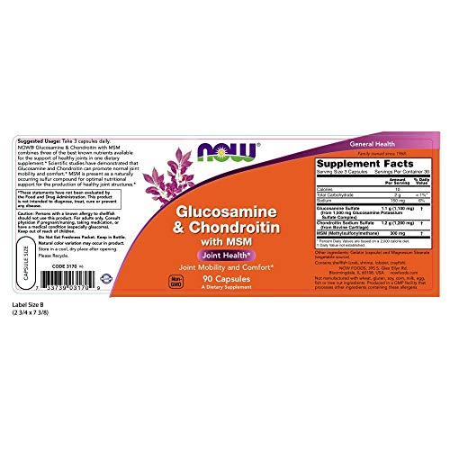 NOW Glucosamine & Chondroi…