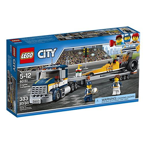 LEGO City Great Vehicles Dragster Transporter 6015…