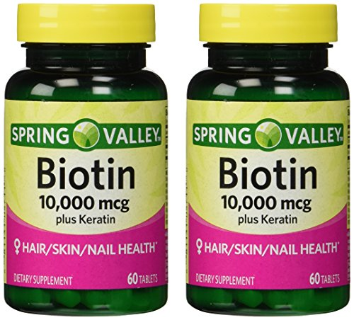 Spring Valley 10000mcg Biotin with 100mg…