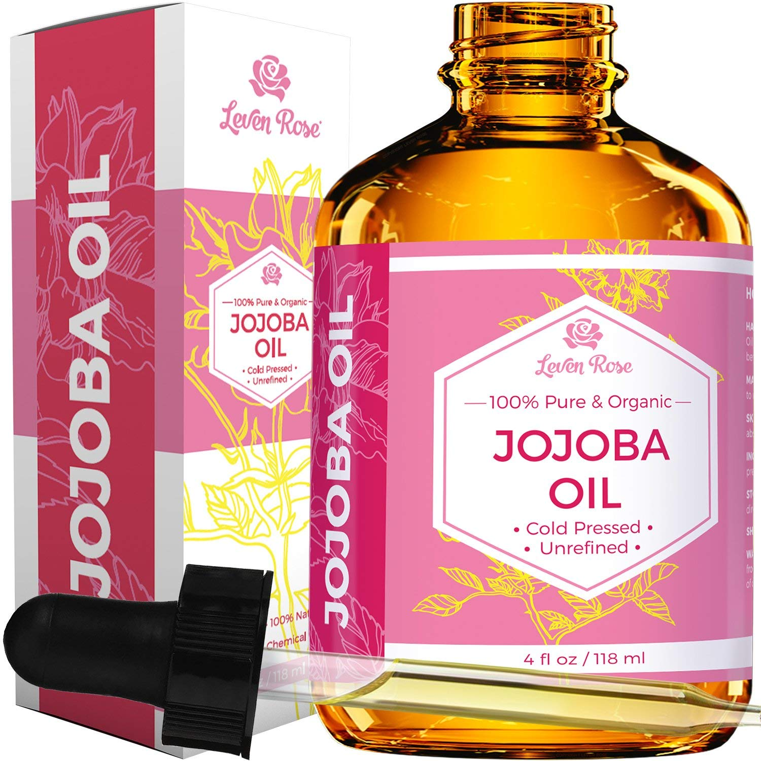 Jojoba Oil by Leven Rose, Pure…