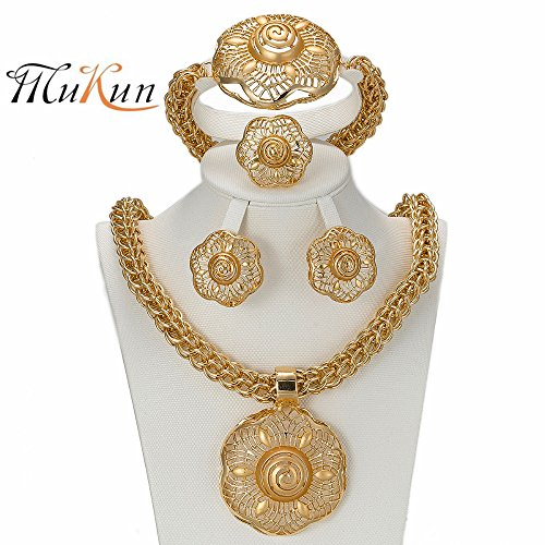 MUKUN Fashion Gold Plated Jewelry Sets - Women Dub…
