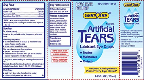 Gericare- Artificial lubricating Tears D…