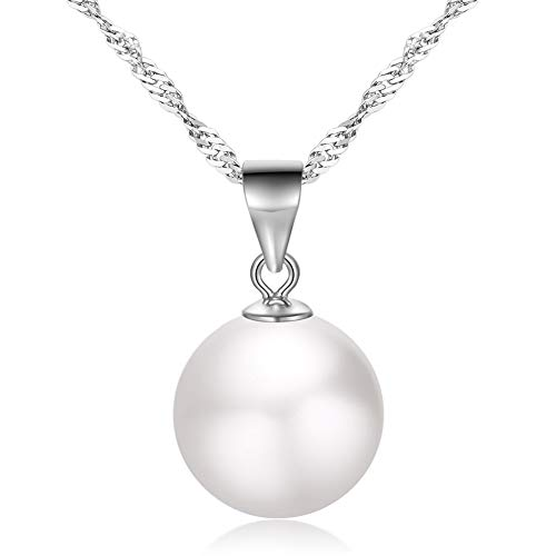 Pearl Necklace 925 Sterling Si…