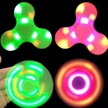 2017 NEW HOT fidget spinner LED light Pl…