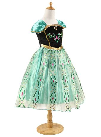 DaHeng Girls Princess Green Anna Fancy Dress Costu…