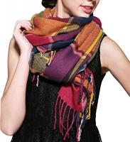 Wander Agio Women's Fashion Long Shawl B…